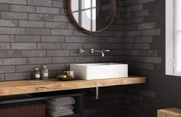 Salle de bains au design industriel