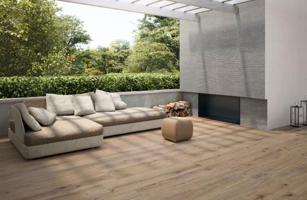 Carrelage pour terrasse 20mm - imitation parquet