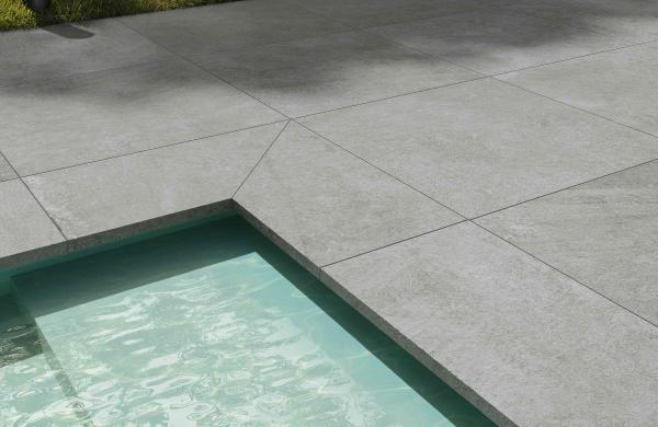 Carrelage forte épaisseur - terrasse sur plots - contour de piscine